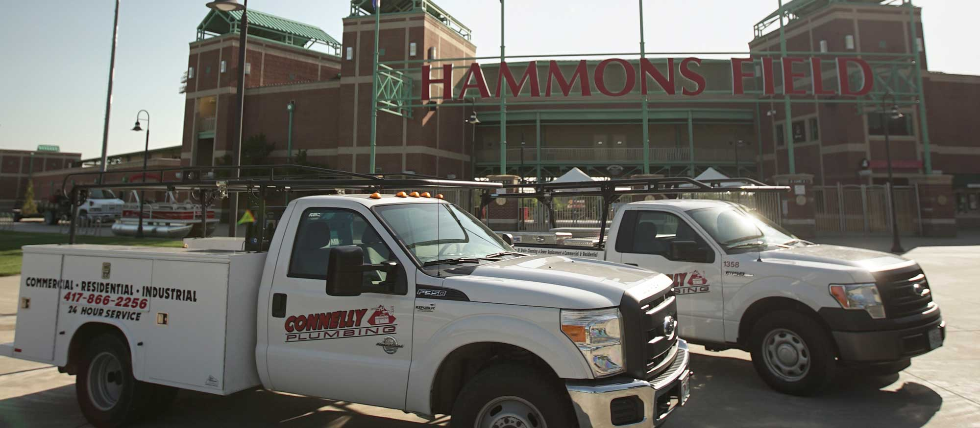connelly trucks at hammons field